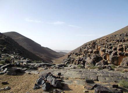 Tag 12 - 26.03.2020  Djebel Sagrho - Ait el Farsi-Marokko Tafilalet Wanderitt Tag 12