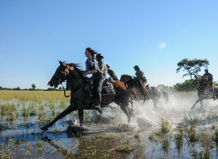 Tag 10 Camp Macatoo -Okavango Delta geflutet