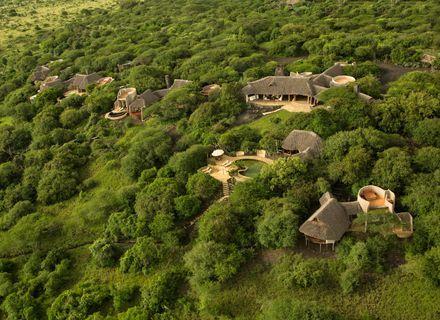 Tag 1 Anreise-Ol Donyo Lodge aus der Luft