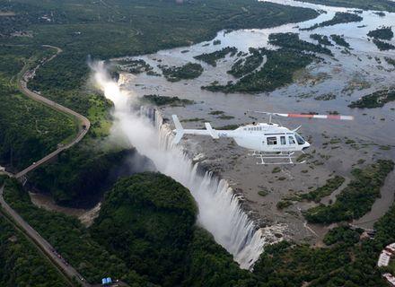 Tag 5-Helikopterflug über die Wasserfälle