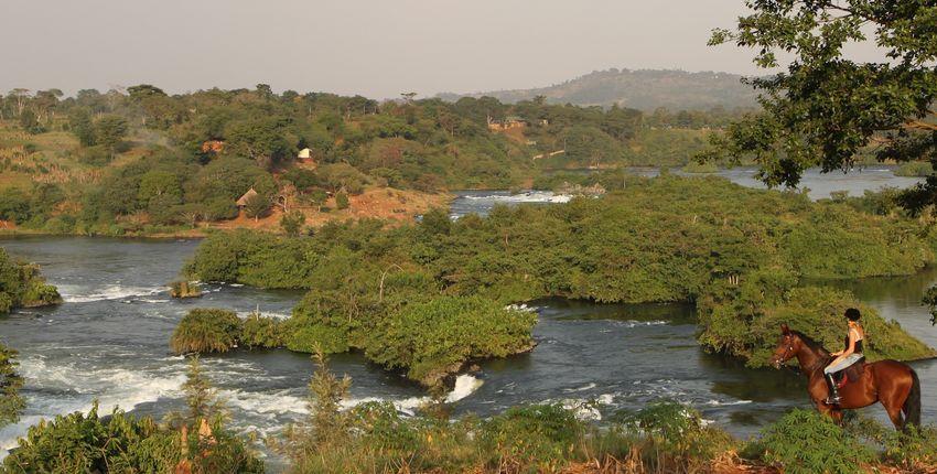 Wanderritt am Victoria Nil