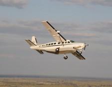Flug mit einer Caravan vom Tuli Block ins Delta