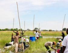 Ankunft der Transport-Mekoros mit dem Camp und der Ausrüstung