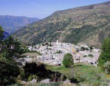 Blick auf das Dorf Poqueira