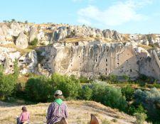 Taubenhäuser in der Steilwand Kappadokien